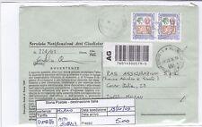 STORIA POSTALE - REPUBBLICA MULTIPLI - PIIM0086 - ATTI GIUDIZIARI - 5.00€
