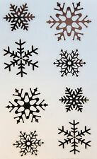 SMALL SNOWFLAKES ~ CHRISTMAS stickers ~ FREE SHIPPING - MRS GROSSMAN ~ Winter