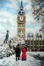 DMC contati Punto Croce Kit Case di neve e di ELEGGIBILITÀ Londra Scena 14 CT AIDA