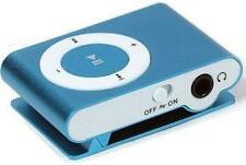 Blue MP3 Music Player With Mini Clip Supports Micro Sd Card 2Gb 4Gb 8Gb
