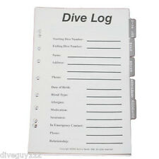 Log Book Binder Replacement Pages Full Set Scuba Diving Dive Pages B300