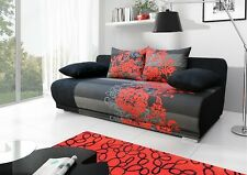 NEW FABRIC OMA I  SOFA BED WITH BEDDING STORAGE BONELL SPRINGS 5 COLOURS