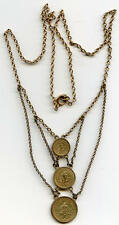 Alaska Dwt set of Gold Coins / vintage necklace / California Fractional Gold