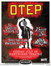 OTEP / THE BIRTHDAY MASSACRE / BENEATH THE SKY 2010 PORTLAND CONCERT TOUR POSTER