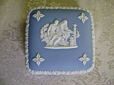 WEDGWOOD BLUE JASPERWARE SQUARE LIDDED TRINKET BOX