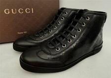 Gucci Black GG High Top Sneakers Shoes Trainers UK7 EU40 New