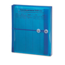 Smead Poly String & Button Booklet Envelope, 9 3/4 x 11 5/8 x 1 1/4 Blue, 5/Pack