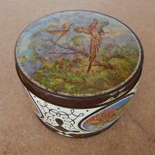 Vintage Thornes Toffee Tin Circular Pheasants in Flight 11cm diameter,