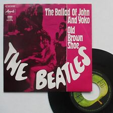 "Vinyle 45T The Beatles  ""The ballad of John and Yoko"""