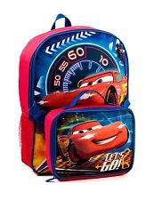 "Disney Cars ☆  Let's Go Rusty Full Size 16"" School Backpack with Lunch Box ☆ NWT"