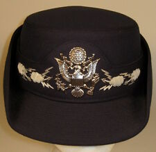 USAF US Air Force Female Field Officer Dress Blues Hat Cap Bullion  7 1/4  58