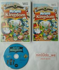 MYSIMS KINGDOM (Wii) & U- MY SIMS ADVENTURE FUN SIMMS KIDS GAME-AGES 3+=VGC✔