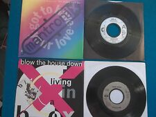 "4XVINYL 7"" SINGLE - MANTRONIX/LEVEL 42/LIVING IN A BOX/CHRIS ISAAK - NEW LOT"