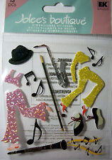 NEW 13 pc TAP & JAZZ Dance Music Tap Shoes Hat Can Saxophone  JOLEES 3D Stickers