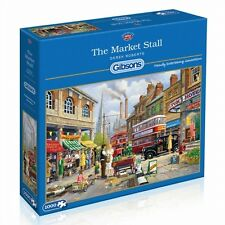 GIBSONS THE MARKET STALL NOSTALGIC 1000 PIECE JIGSAW PUZZLE - NEW GIFT