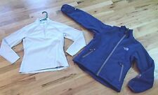 2 lot NORTH FACE softshell jacket summit series flight baselayer top women small