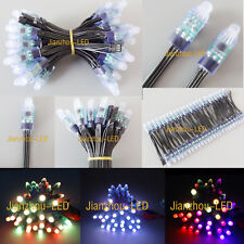 100pcs WS2811 RGB Pixels 12mm Addressable LED String Module IP68 Waterproof 12V