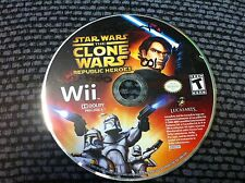 Star Wars: The Clone Wars - Republic Heroes  (Wii, 2009)DISC ONLY