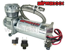 Air Compressor Chrome 480C For Horn Or Air Bag Suspension 165psi On - 200psi Off