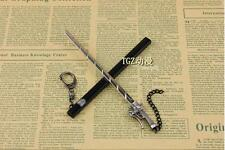 New Japan Anime Attack on Titan Blade Weapon Key Chain Eren Jaeger Sword keyring