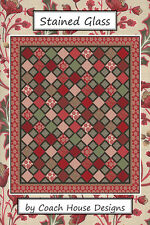Quilt Pattern ~ STAINED GLASS ~ by Coach House Designs