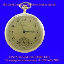 Mint Deco 18k Gold Cartier Dress Pocket Watch 1925