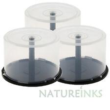 Capacidad de almacenamiento de 3 X 50 CD DVD vacío Huso Bañera Pastel Caja Cakebox
