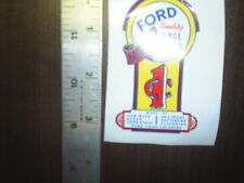 Real Ford 1 cent Ball gum Self Adhesive #52 Very nice decal