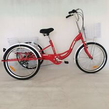 """New Red 24"""" 6 Speed Shimano Gears Adult Tricycles Bike FREE MELB Delivery"""
