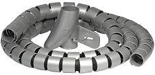 2x Kabelschlauch 2m silber Kabelkanal Einführhilfe Spiralschlauch Ø25 mm