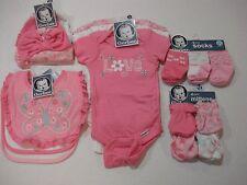 Gerber Newborn Girls 16 Piece Baby Shower Bundle NEW Pink Flowers Butterfly