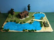 Old Shack on the Lake Fisherman's Cabin HO Scale Train Track Layout Diorama