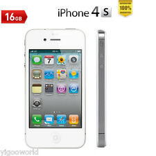 Original Apple iPhone 4S 16GB Factory Unlocked White Smartphone 100% tested
