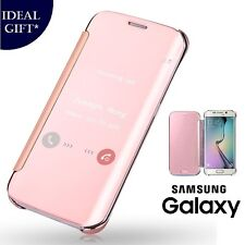 Rose Gold Mirror Flip Leather Protect Case Cover For Samsung Galaxy S7 Edge