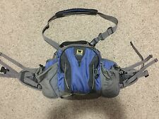 Mountain Smith Carin II Lumber Hip fanny Pack Blue and Grey, rain protecter flap
