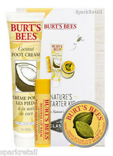 Burt's Bees NATURE'S STARTER KIT Gift Box: Lip Balm/Foot Cream/Cuticle Cream