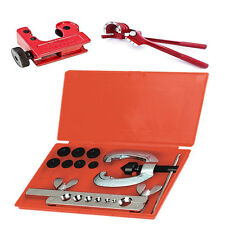 Metric Brake Pipe Flaring Kit Tools Fuel Repair Set With Tube Bender + Cutter UK