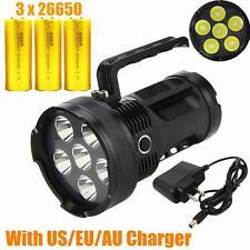 Rechargeable 9000LM 6x CREE XML T6 LED Flashlight Torch Light hand lamp 4X26650