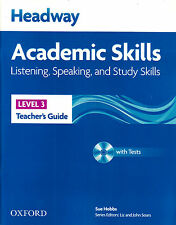 HEADWAY Academic Skills 3 Listening Speaking & Study Teacher's Guide with CD NEW