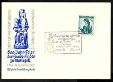 (Ref-7903) Austria 1957 800 Jahre Gnadenbild Mariazell Card with SG.1109