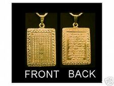 24kt Gold Plated sterling silver 99 Glorious Names of Allah Muslim Islam Charm