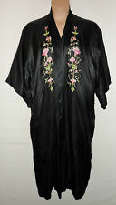 SILVER OSMANTHUS silk embroidered dressing gown UK 16 - 22 US 14 - 20 vintage