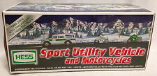 2004 Hess Toy Sport Utility Vehicle and Motorcycles, w/Lights - Brand New in Box