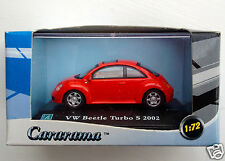 Cararama 1/72 scale 2002 VW New Beetle Turbo S - red