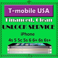 Factory Unlock Service T-mobile USA iPhone 4s 5 5s 5c 6 6+ 6s 6s+ Clean/Financed