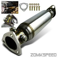 For 88-00 Honda Civic EG/EK High Flow Racing Straight Test Pipe CAT Converter
