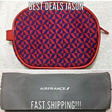 Air France Airline Amenity Kit RED Business Class With Slippers - BRAND NEW