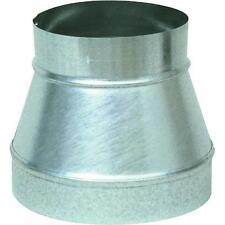 "Galvanized 8"" X 6"" 28 Ga Stove Pipe Increaser Reducer (No Crimp) GV0791"