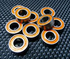 (10 PCS) MR84-2RS (4x8x3 mm) Double Metal Rubber Sealed Ball Bearing (Orange)