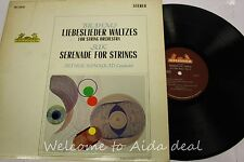 Brahms Liebeslieder Waltzes Suk Serenade for Strings LP (VG) 12""